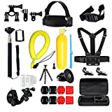 RugGear Sports Kit for GoPro hero accessories with waterproof camera float and Large carrying case