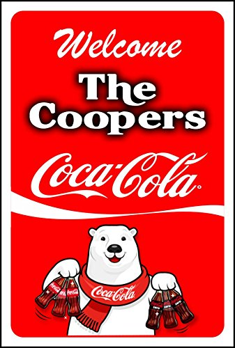 Coca Cola Sign/ Personalized Coca Cola Sign/ Polar Bear 10x14 inch