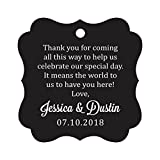 Darling Souvenir Custom Wedding Thank You Message Gift Tags Personalized Party Favor Hang Paper Tags-Black-50 Tags