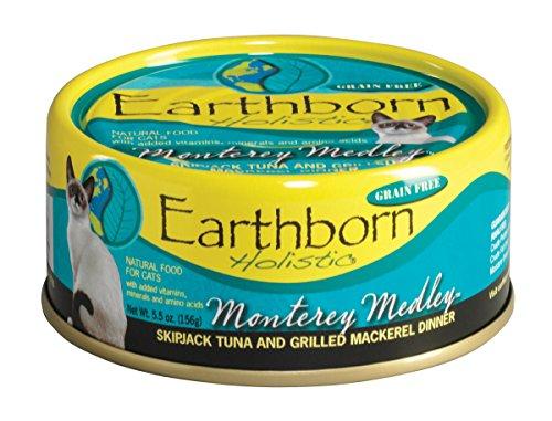 Monterey Medley Skipjack Tuna (Earthborn Holistic Monterey Medley Skipjack Tuna and Grilled Mackerel Dinner Wet Cat Food, 5-1/2-Ounce Can,)