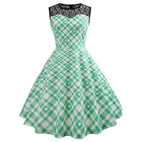 men's Dresses,DaySeventh Women Bodycon Evening Print Party Prom Swing Dress ()