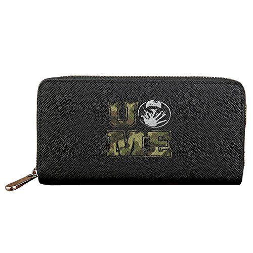 Men's & Women's U Cant See Me Logo PU Leather Long Purse Zipper Wallet Money Clip Card Case (Wallet John Cena)