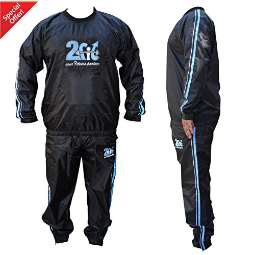 2Fit® Heavy Duty Sweat Suit Sauna Exercise Gym Suit Fitness, Weight Loss, AntiRip (5XL) (5xl Sauna Suit)