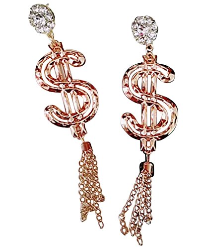 CutieJewelry Money Sign Statement Dangle Cute Pretty Earrings (Gold Color)