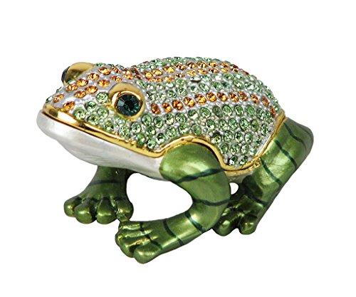 Frog Trinket Box Swarovski Crystals (Lovely Rucinni Frog Swarovski Crystal Trinket Box)