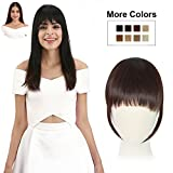 REECHO Fashion One Piece Clip in Hair Bangs/Fringe / Hair Extensions Color: Dark Brown