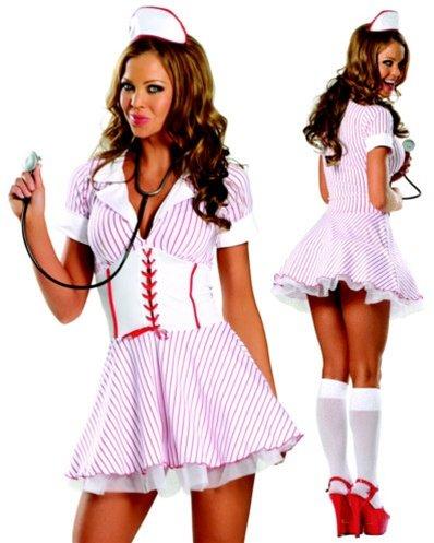 [Sexy Naughty Nurse Costume - M/L] (Naughty Nurse Halloween)