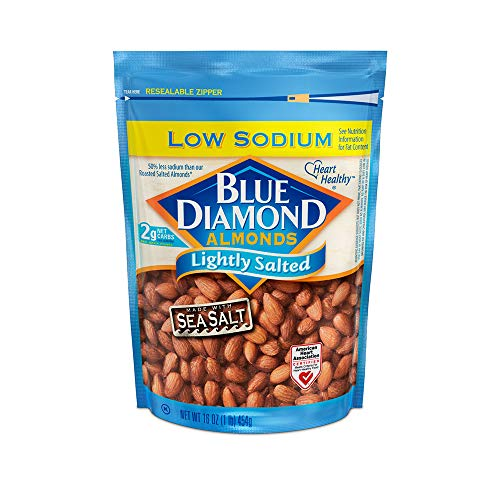 Blue Diamond Almonds, Lightly Salted, Low Sodium, 16 ()