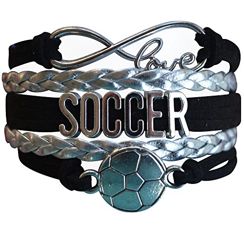 Soccer Gifts- Soccer Bracelet, Soccer Jewelry, Adjustable Soccer Charm Bracelet- Perfect Soccer Gifts for Girls