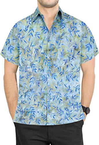 - LA LEELA Cotton Printed Shirt for Men Tropical Aloha L|Chest 44