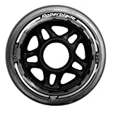 Rollerblade 80mm 82A Wheels, 8 Pack, Clear, US Unisex ST