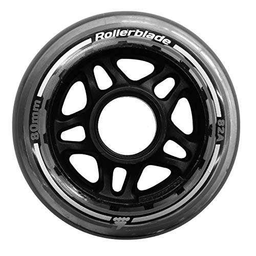 (Rollerblade 80mm 82A Wheels, 8 Pack, Clear, US Unisex ST)
