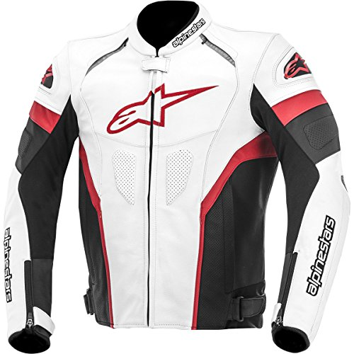 Alpinestars GP Plus R Perforated Perforated Men's Leather Motorcycle Jackets - Black/Red/White / 56