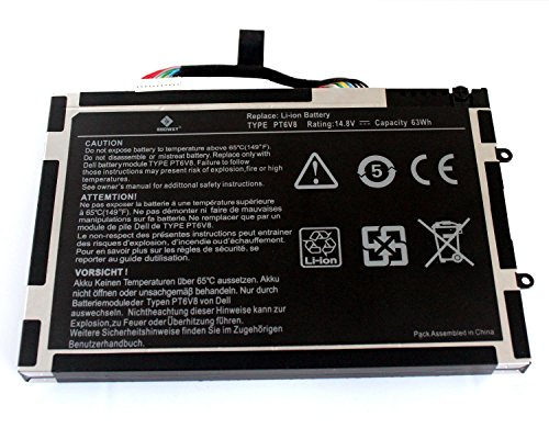 Battery Alienware KR 08P6X6 Li Polymer 4200mAh product image