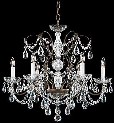 Schonbek 1592-40H Swarovski Lighting Madison Chandelier, Silver