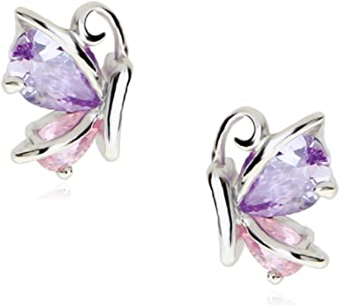 rose gold Amethyst crystal purple earrings gold long pendant earrings \u2022 June birthday gift for her \u2022 Sterling silver