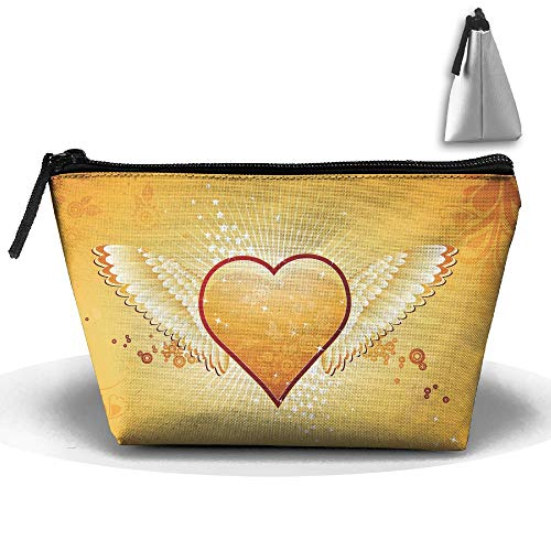 Travel Cosmetic Bags Heart Wing Circle Small Makeup, used for sale  Delivered anywhere in USA