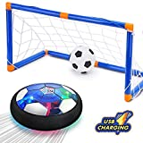 Toys : CUKU Kids Toy,Hover Soccer Ball Toys for 3 4 5 6 7 8-16 Years Old Boy Girl , 2 Goals and Inflatable Ball,Indoor Floating Soccer with LED Light and Safe Bumper(No AA Batteries Needed)