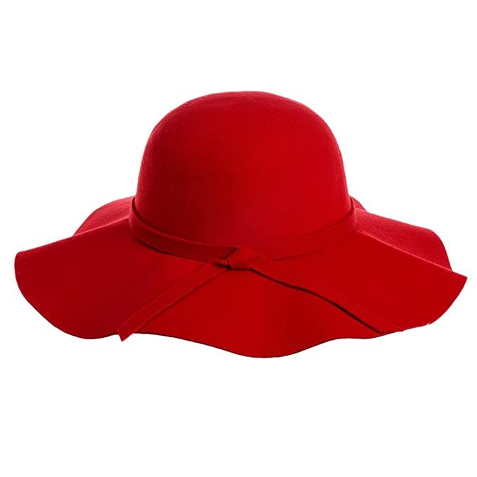 Red Wide-Brimmed Hat