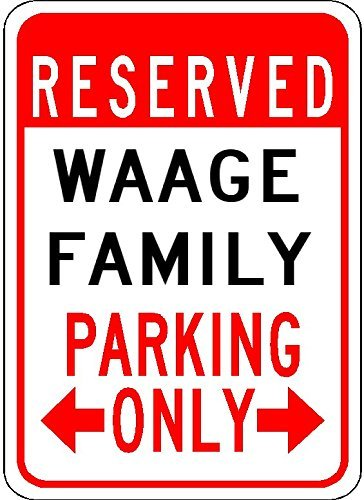 Metal Ramones (Metal Signs Waage Family Parking - Customized Last Name - 8