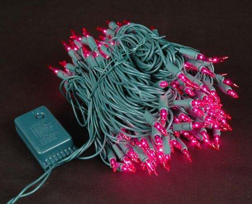 Novelty Lights 140 Light Chasing Patio Party Christmas Mini Light Set,  Pink, Green Wire, 46.5' Long - - Amazon.com - Novelty Lights 140 Light Chasing Patio Party Christmas Mini Light
