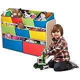 Delta Children Deluxe Multi-Color Toy Storage Bins with Organizer