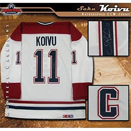 Image Unavailable. Image not available for. Color  Autographed Saku Koivu  Jersey ... b6b75cfdb