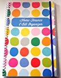 Bill Organizer and Home Finance Organizer with Pockets (Polka Dots)