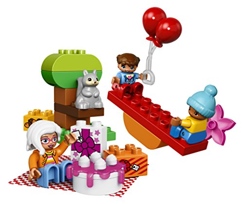 51H6QvrEPvL - LEGO DUPLO My Town Birthday Party 10832, Preschool, Pre-Kindergarten Large Building Block Toys for Toddlers