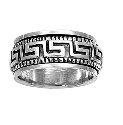 925 Sterling Silver Greek Continuous Spinner Ring Size 11 by Princess Kylie