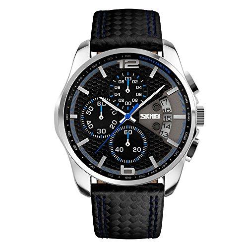 SKMEI 30M Waterproof Blue Light LED Watch (Red) - 4
