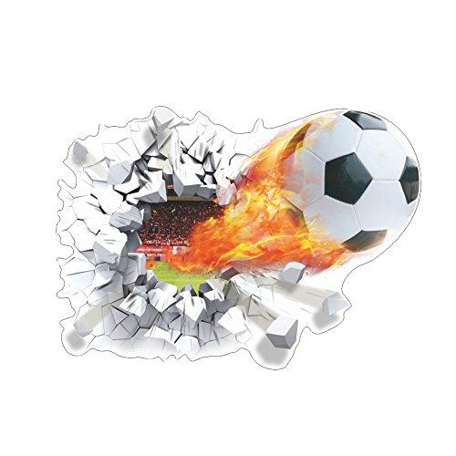 3D Solide Wand-Fußball Wandtattoos Wandbilder Wohnzimmer