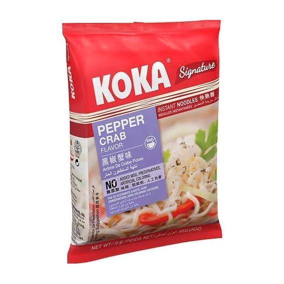 KOKA Signature Pepper Crab Noodles(85g x 4 Packs)