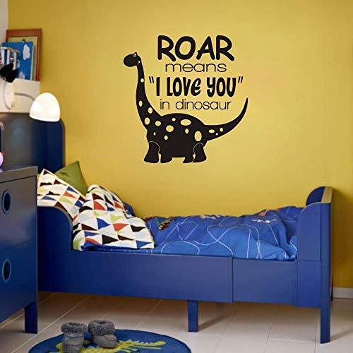 FlyWallD Dinosaur Wall Decals Baby Boy Room Nursery Vinyl Art Quotes Decor Paleontologist Sticker Decor Roar Means I Love You in Dinosaur
