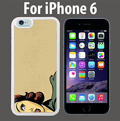 amazon com retro woman comic style custom case cover skin *newretro woman comic style custom case cover skin *new* case for apple iphone 6 white plastic case (ships from ca) custom protective case , design