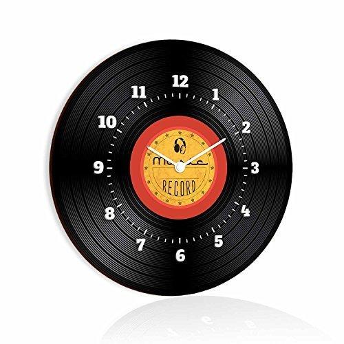4 opinioni per Lupia Clockart Orologio da Parete Tondo Dm Disco Nero, Legno, Multicolore,