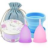 Best Menstrual Cups - SPEQUIX 2 PCS Menstrual Cup w/ 1 PCS Review