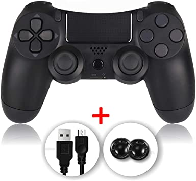 shineled Mando PS4, PS4 Controller, Controlador PS4, Mando Inalámbrico Gamepad Compatible con Playstation 4 (Negro): Amazon.es: Electrónica