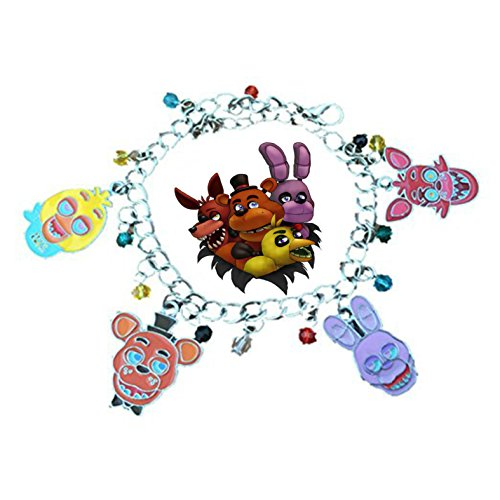 New Horizons Production Five Nights at Freddy's Assorted Metal Charms Bracelet