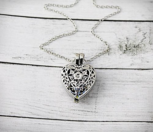 Cremation Necklace - Urn Jewelry - Ashes - Urn Heart - Always In My Heart - Rose - Locket - Reversible - Rose - Always in my heart - Sympathy Gift - Memorial Necklace -