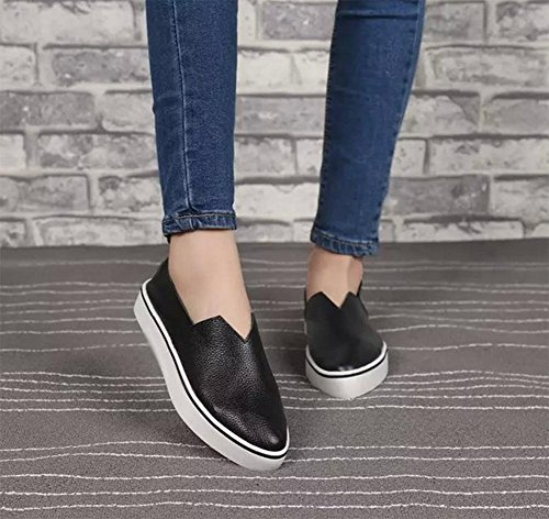 Ms aguzzi primavera conca imposta scarpe di Aiutare donna pianeggiante casual scarpe a scarpe usura piede sceglie pattini ascensore i black basso wxUzq1PH