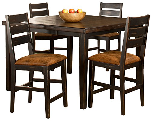 Hillsdale Killarney 5-Piece Counter Height Dining with Ladder Back Stools