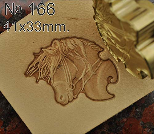 Leather Working Tools Horse Carving Punches Stamp Craft Saddle Brass #166 by DandS ltd (Image #1)