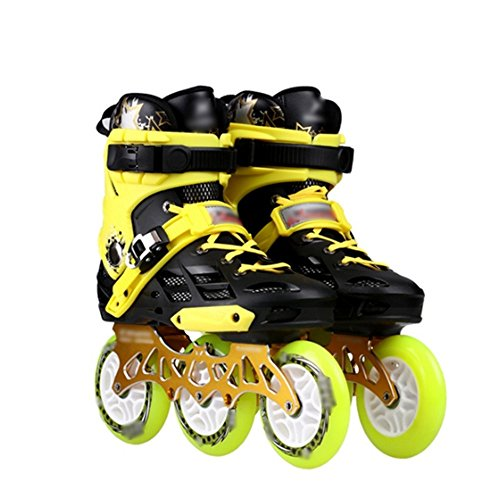 Hombres Carreras Yellow Patinaje Flores Tres Profesionales Mlss Planas Zapatos Adultos En Mujeres Rondas Velocidad Pasteles Y Patines De Li Ruedas Línea qB0URZ