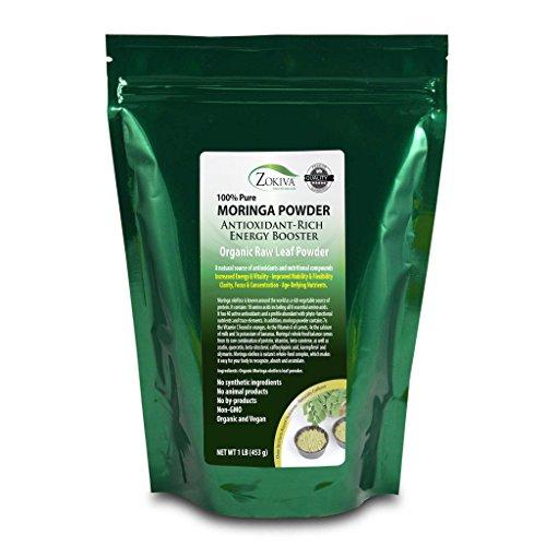 Moringa Oleifera Leaf Powder - Organic - 100% Pure - 1LB Resealable Pouch