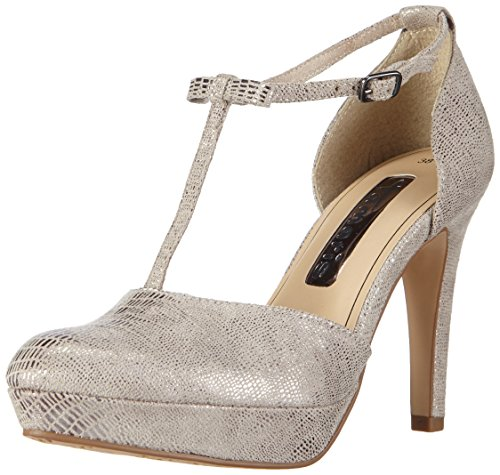 Tamaris 24431, Women's T-Bar Court Shoes Grey - Grau (Grey Structure 228)