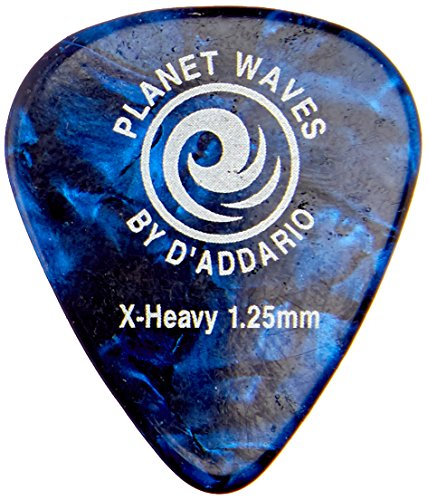 Planet Waves Blue Pearl Celluloid Guitar Picks, 25 pack, Extra Heavy -