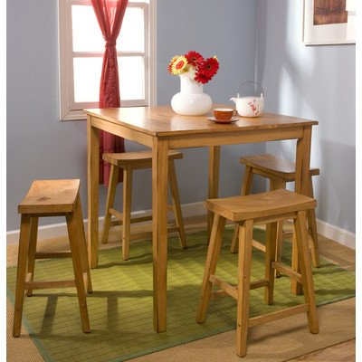 - TMS Belfast 5 Piece Counter Height Dining Set Finish: Rustic Oak
