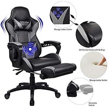 Pleasant Amazon Com Fullwatt Lumber Massage Gaming Chair With Andrewgaddart Wooden Chair Designs For Living Room Andrewgaddartcom
