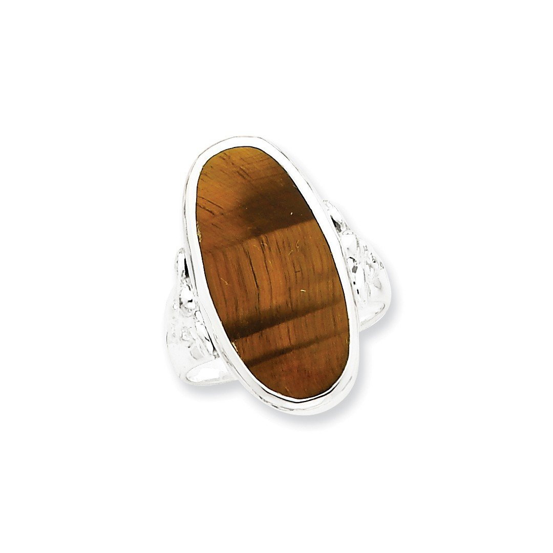 ICE CARATS 925 Sterling Silver Oval Tiger Eye Band Ring Size 8.00 Fine Jewelry Ideal Gifts For Women Gift Set From Heart